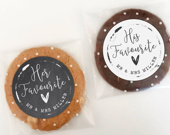 His and Her Favorite Stickers, Thank You Stickers, Wedding Thank You Favor Bags, His favourite her favourite sticker, Wedding Welcome Favors