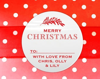 Gloss christmas stickers, Merry Christmas Label, Christmas Stickers, Gift wrapping ideas christmas, Christmas personalized gift tags