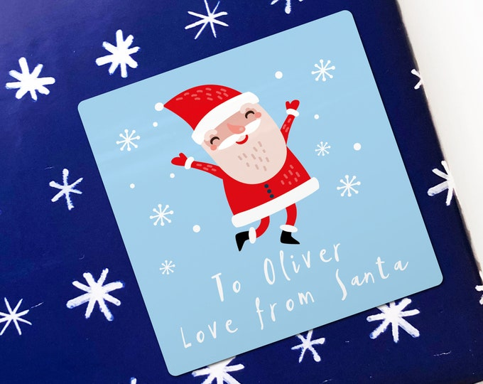 Christmas Stickers from Santa Custom Gift Tags Present Tags Xmas Stickers Gift Wrapping Ideas, Christmas Packaging Stickers, Gift stickers