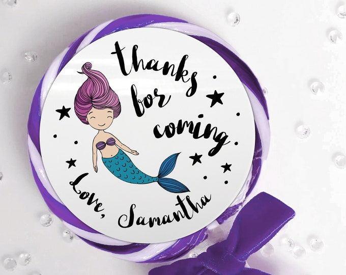 Thank you stickers, Birthday party favours for kids, Custom labels, Party Bag Stickers, Personalised birthday stickers, Sweet cone stickers
