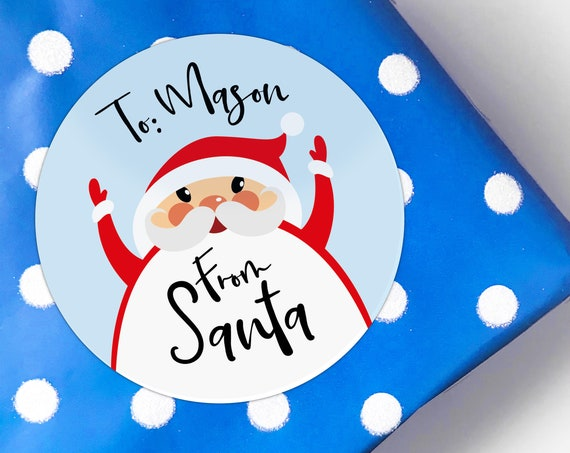 From santa gift tags, Christmas stickers for presents, From santa stickers, Father christmas sticker, Xmas stickers, Christmas Tags