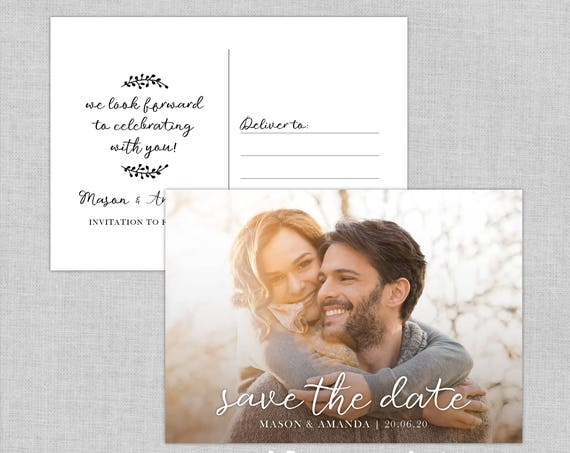 Save The Date Photo Postcard, Save the date post card, Wedding save the date post card, Save the date cards, Unique save the date cards, A6