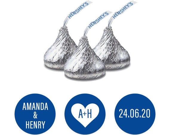 Hershey kisses labels,  Wedding favor stickers, Custom stickers by Blooms