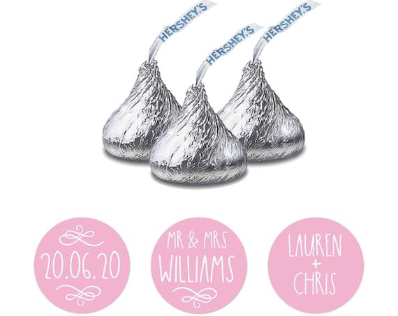 Hershey kisses sticker, Hershey kiss wedding sticker, Custom stickers by Blooms