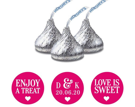 Hershey kiss wedding sticker, Hershey kiss labels,  Custom stickers by Blooms