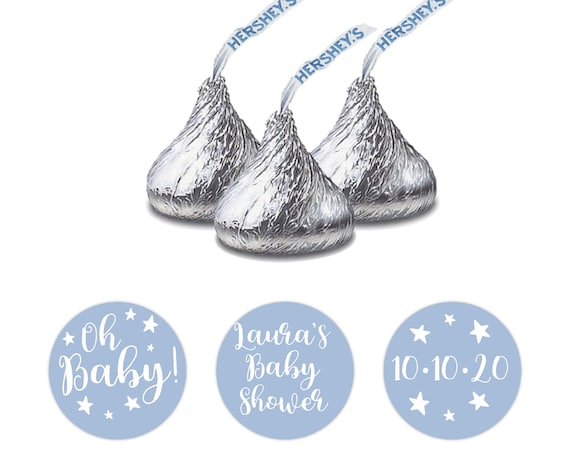 Baby shower hershey kisses stickers, Baby shower stickers, Custom stickers by Blooms