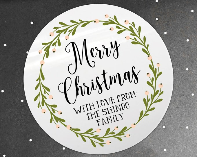 Custom stickers personalized Christmas gift tag sticker, Christmas stickers personalised, Merry Christmas stickers, Christmas tag stickers