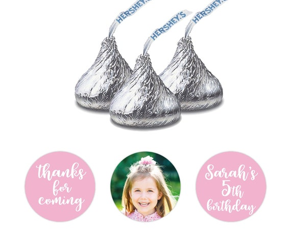 Birthday Hershey kiss sticker, Hershey kiss labels, Custom stickers by Blooms