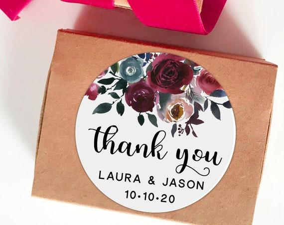 Thank you stickers, Custom stickers wedding, Wedding favors for guests, Wedding stickers, Rustic stickers, Printed stickers, Party stickers