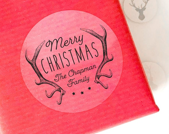 Clear personalised Christmas stickers, Personalized Christmas labels, Christmas tags for presents, Christmas gift sticker, Custom tags