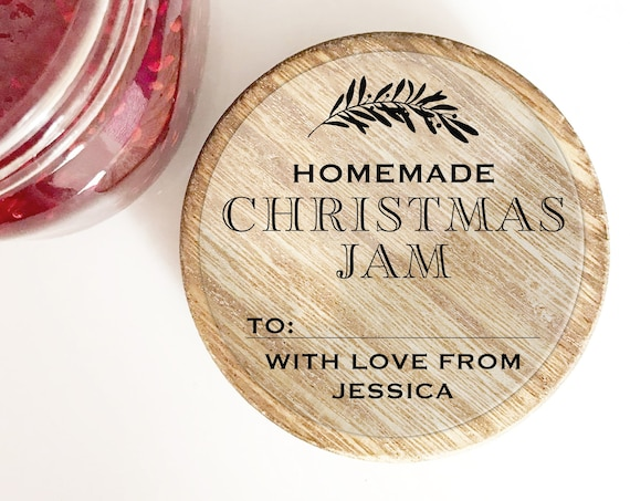 Custom Christmas sticker labels for mason jars, Christmas mason jar labels for handmade items, Christmas sticker personalised jam jar labels