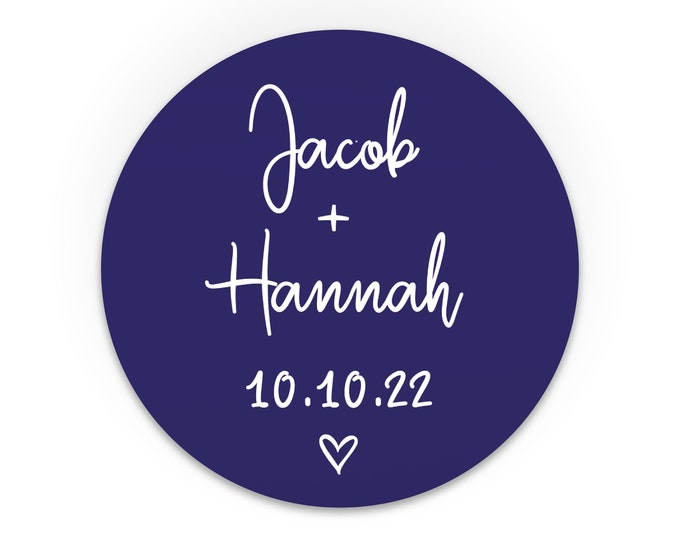 Personalized sticker wedding favours custom stickers labels, Round favor stickers, Thank you favour stickers, Party name stickers