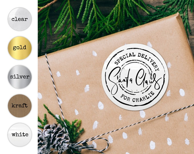 Gift Wrapping Ideas Santa Gift Tags Personalised Stickers Tags for Favors Name Tag Stickers Labels Stickers for Handmade Items Present Tags