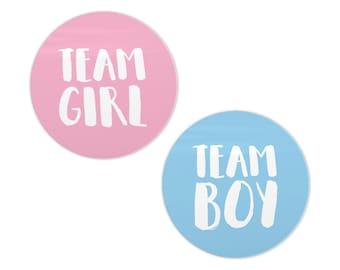 Team Girl stickers Team Boy Stickers Gender Reveal Boy Or Girl Sticker Team Blue Team Pink It's a Boy It's a Girl Baby Shower Sticker