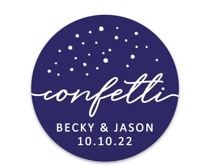 Wedding confetti stickers for confetti bags wedding favor tags, Wedding stickers for favors, Wedding favor sticker labels, Toss me stickers