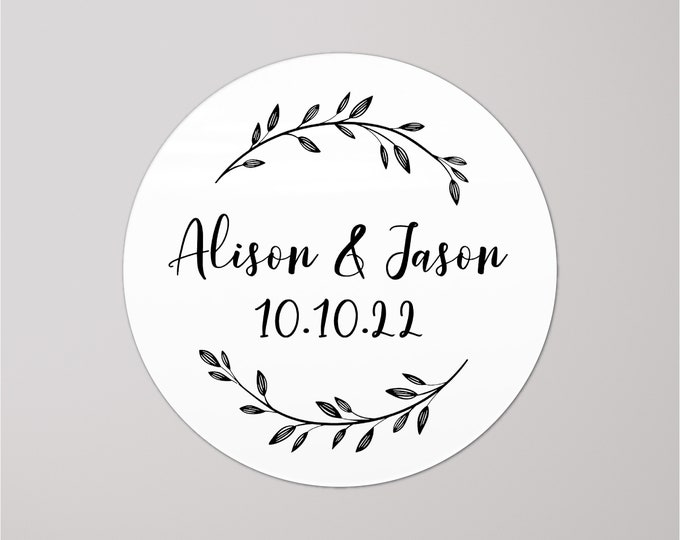 Personalised wedding favor sticker seals custom favor stickers, Invitation seals, Wedding name stickers, Wedding invitation stickers
