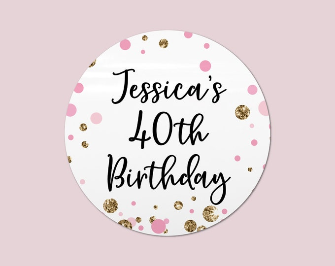 Thank you for coming to my party stickers custom birthday stickers, Gift bag stickers, Rainbow circle stickers, Party favors round sticker