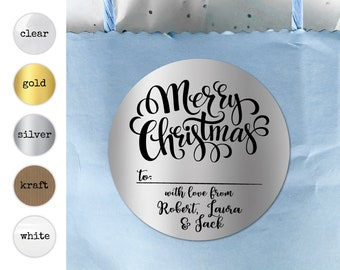Christmas Holiday Gift Tags Xmas Crafts Envelope Stickers Personalized Stickers Name Round Labels Merry Christmas Rectangular Stickers Shop
