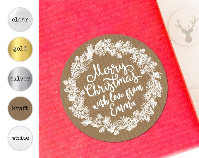 Personalised Stickers Christmas Gift Tags Wrapping Ideas Tags for Favors Custom Gift Tags for Handmade Items Xmas Stickers Merry Christmas