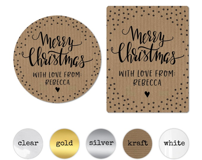 Merry Christmas Tags Custom Gift Tags for Handmade Items Personalised Christmas Stickers Gift Wrapping Ideas Christmas Decorations Favors