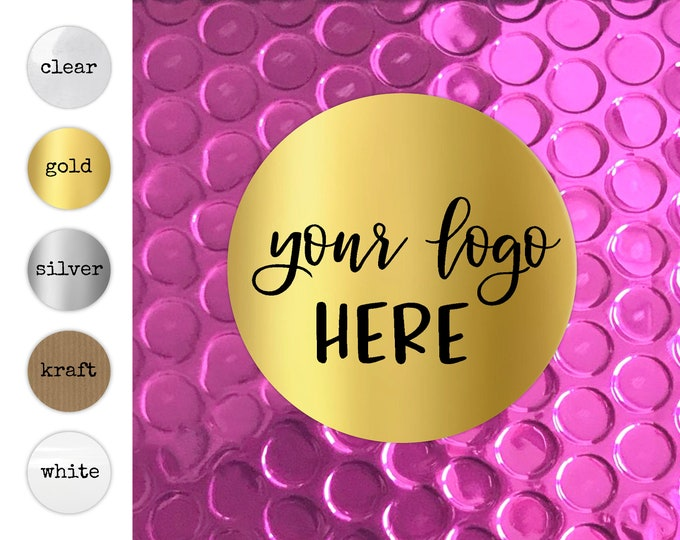 Personalized Clear Business Logo Labels, Custom Transparent Sticker Sheets, Business Branding Decals, Packaging Supplies for Etsy Shops