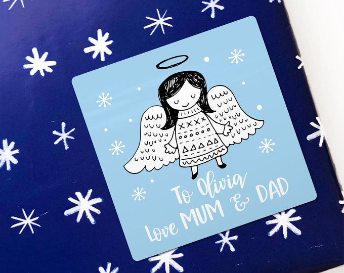 Christmas stickers labels and tags custom labels Merry Christmas sticker large, Christmas gift tags, Christmas gift label, Custom sticker