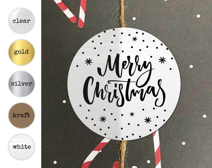 Decorative Tags Merry Christmas Personalised Stickers Christmas Gift Tags Christmas Stickers Seals Embossed Personalised Christmas Stickers