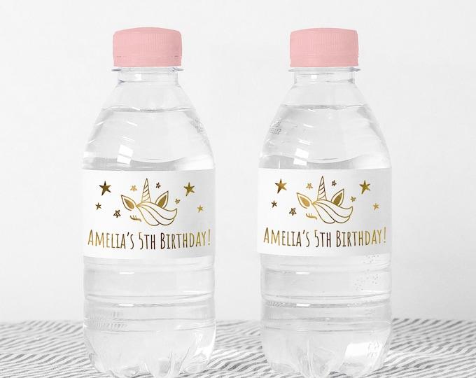 Custom wedding water bottle labels name stickers, Waterproof party favor stickers, Waterbottle wraps, Water bottle stickers girls - WBS04