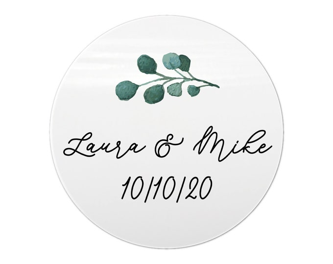 Calligraphy wedding gift box stickers for favors, Custom favor sticker, Envelope circle stickers, Gift bag sticker
