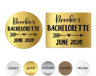 Bachelorette party stickers personalised hen do stickers, Round sticker labels, Bag stickers round, Hen party stickers, Hen do accessories