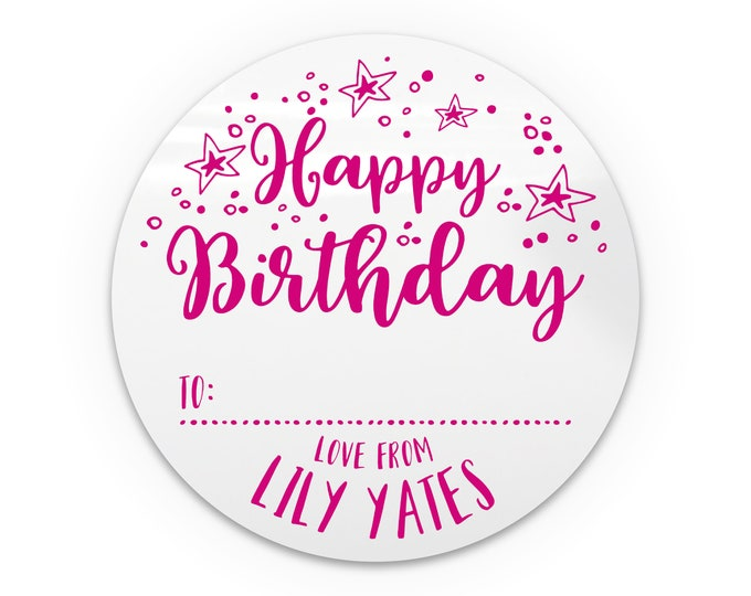 Personalised stickers party favour for kids, Birthday party stickers party favor, Custom birthday stickers, Party bags favor stickers