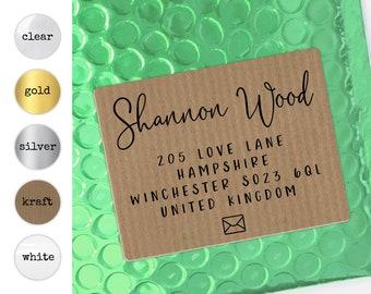 Return wedding address stickers, Return address label, Custom address label, Couple modern address label, Wedding return label