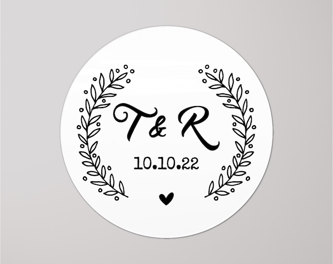 Custom monogram wedding envelope initial seals stickers labels, Custom sticker labels, Wedding invitation seal