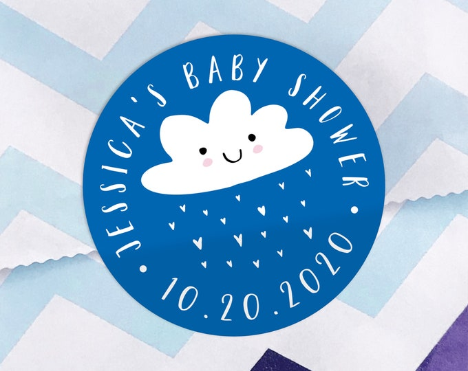 Baby shower stickers, Baby shower labels by Blooms