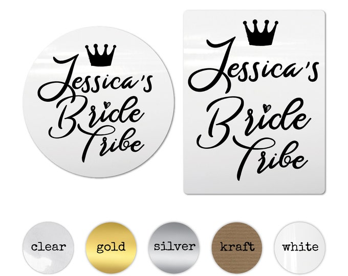 Personalized bride tribe stickers hen do accessories, Hen party stickers, Hen do round sticker, Custom hen party stickers, Hen party favours
