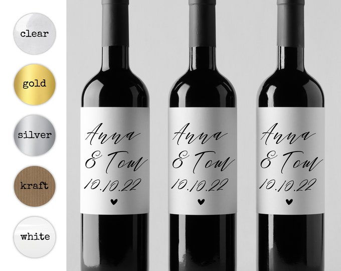 Wine bottle labels wedding thank you stickers personalized wine labels, Wine bottle label, Personal wine label, Teacher wine label