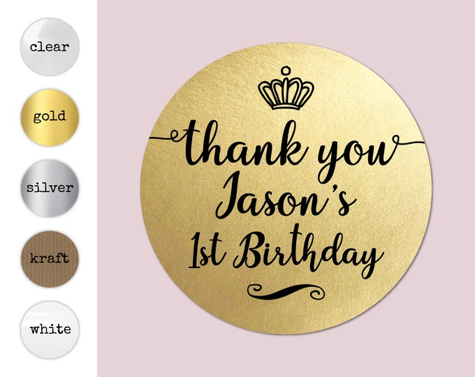 Personalised labels for birthday stickers girls party favors, Custom stickers clear,  Boys party favours, Party bag stickers - BP08