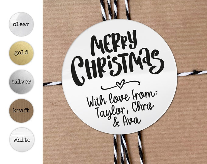 Merry Christmas Name Tag Stickers Wrapping Ideas Mason Jar Labels Stickers Personalised Christmas Stickers Gift Wrapping Topper Gift Favors