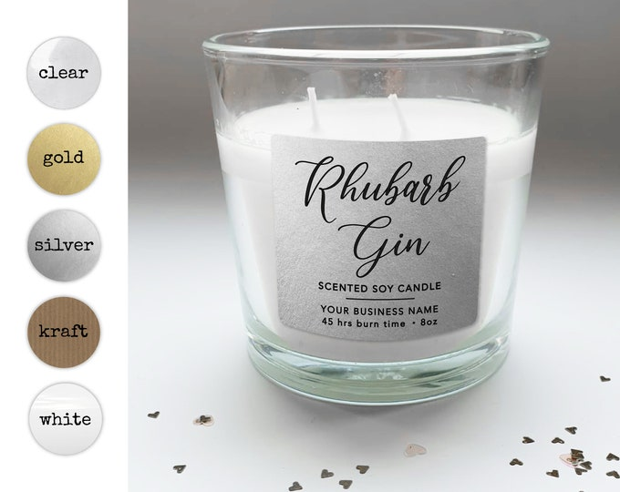 Personalized custom candle wedding favor stickers labels, Custom candle labels, Custom candle packaging, Custom label design