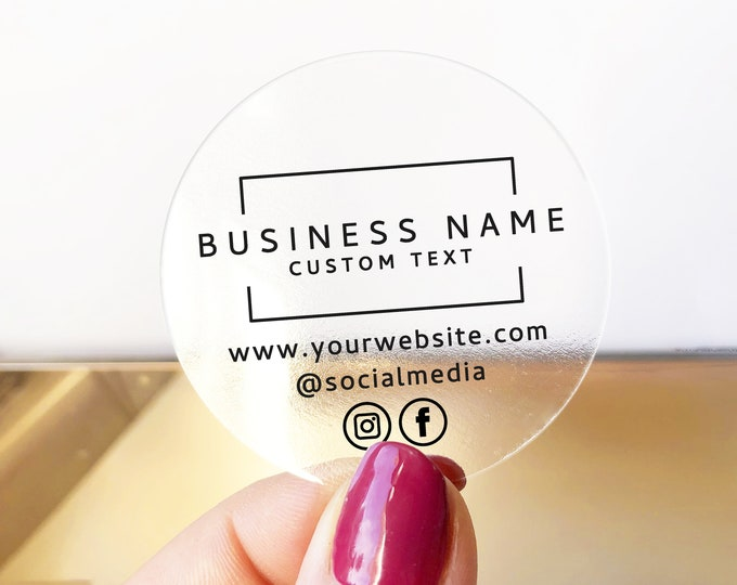 Custom Product Label Stickers, Personalized Business Labels, Logo Sticker Sheet, Round Packaging Decals, Circle Jar Labels - BS29