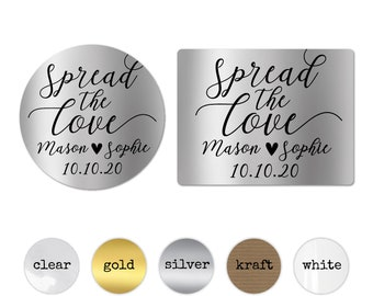 Spread the love sticker labels spread the love labels, Wedding jam labels, Wedding favour stickers, Custom stickers for party favors