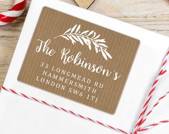 Christmas Envelope Stickers Round Christmas Address Labels Christmas Tags Personalized Rectangular Stickers Present Tags Packaging Ideas