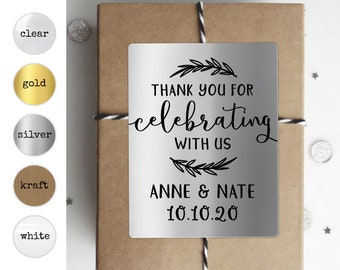Wedding Rectangle Labels