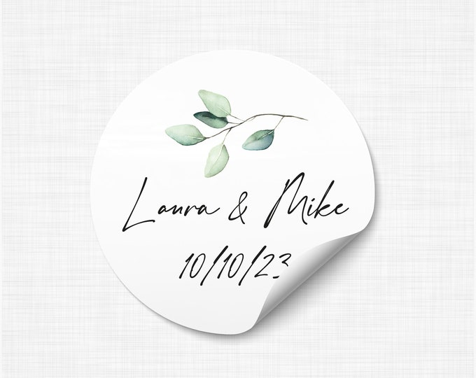 Wedding favours stickers stickers and labels, We tied the knot stickers, Wedding take a shot stickers, Rustic Favor Sticker - WC16