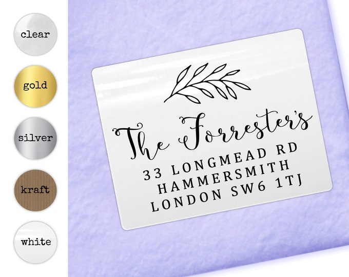 Return address stamp, Return address labels stickers, Personalised gift, Address stickers, Wedding Gift, House Warming Gift, Personalized