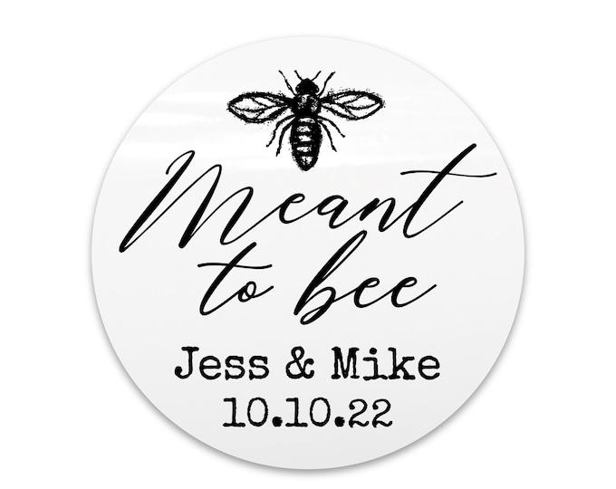 Wedding favor sticker sheet custom labels meant to bee wedding stickers, Custom honey labels, Bee sticker labels for jars, Custom sticker