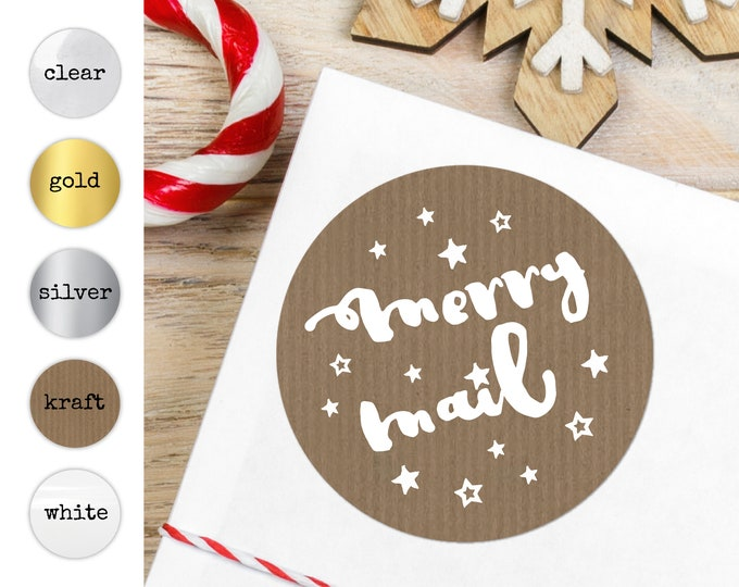 Christmas Stickers For Envelopes Seals Christmas Labels, Envelope Stickers, Merry Christmas Stickers, Christmas Seals