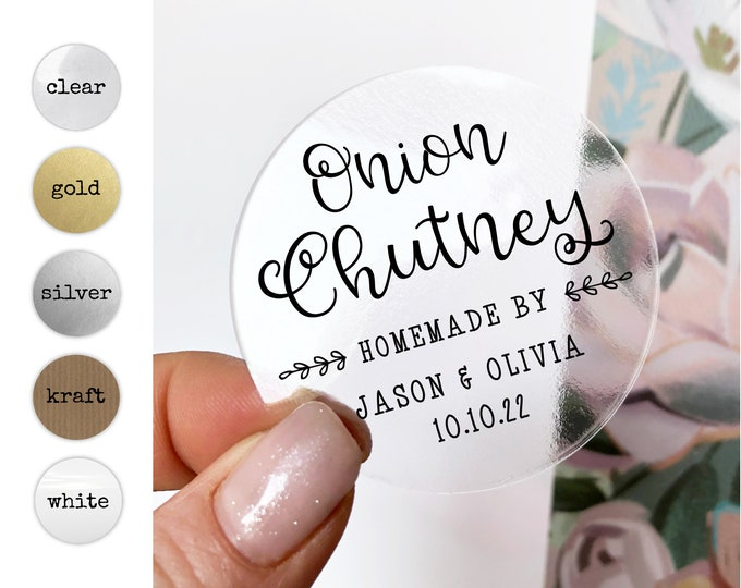 Personalized custom wedding stickers product sticker labels, Mason jar labels, Wedding stickers for favors, Custom round stickers