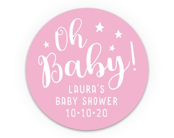 Baby shower favors, Favour stickers, Baby shower labels, Baby girl shower, Pink baby shower, Baby shower stickers, Baby shower favor