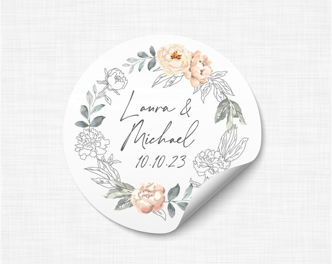 Welcome wedding custom favours thanks stickers labels, Personalised labels for wedding invitation, Personalized stickers wedding - WC10